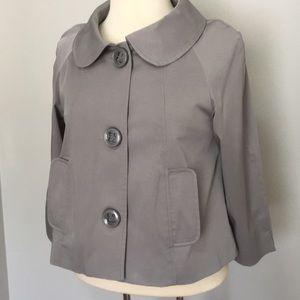 Vertigo Paris light gray 3/4 sleeve short jacket
